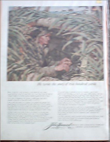 John Hancock Life Insurance ad featuring Ernie Pyle