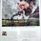 1959 John Hancock Life Insurance ad featuring Alexander Graham Bell