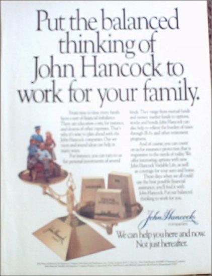 John Hancock Life Insurance ad #5