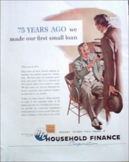 1953 Household Finance ad