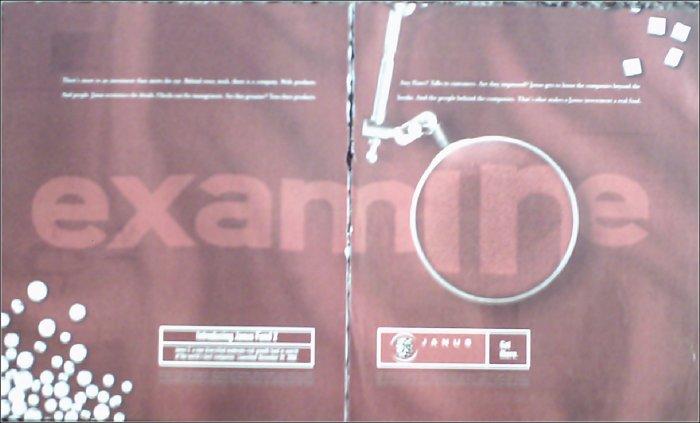 2001 Janus Investments ad