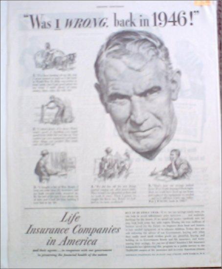 1946 Life Insurance Companies in America ad