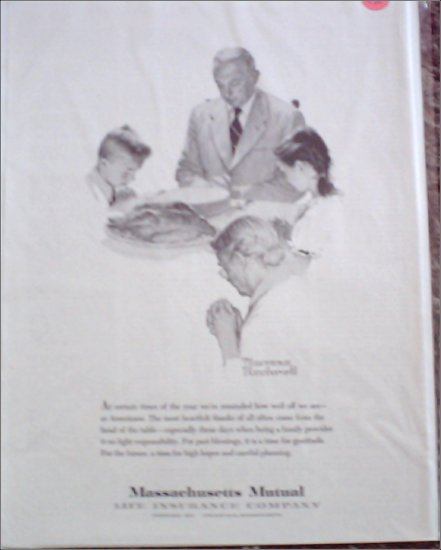 Massachusetts Mutual Life Insurance Norman Rockwell ad