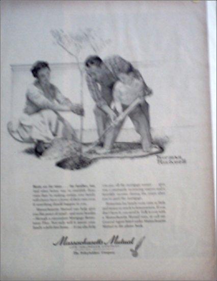 Massachusetts Mutual Life Insurance Norman Rockwell ad