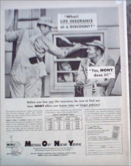Mutual Of New York Insurance ad #1