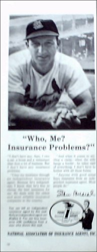 National Association of Insurance Agents ad featuring Stan Musial