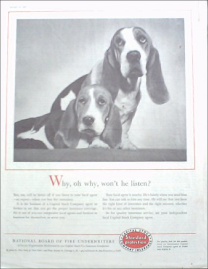 1957 National Board of Fire Underwriters Insurance ad