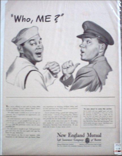 1943 New England Mutual Life Insurance ad