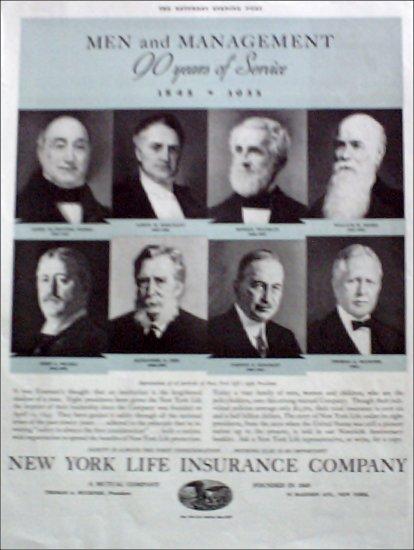 1935 New York Life Insurance Company ad