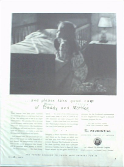 1943 Prudential Insurance ad #2