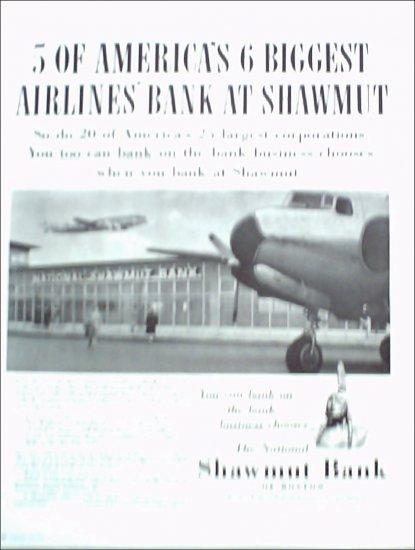 1952 Shawmut Bank ad