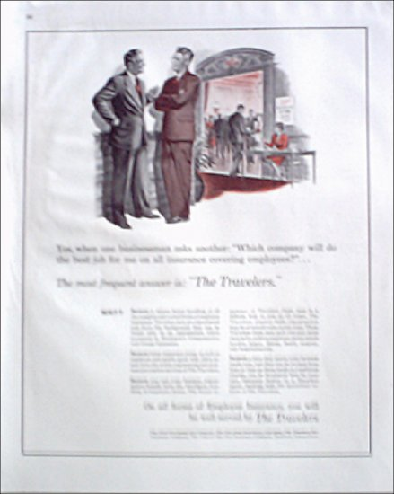 1946 Travelers Insurance ad