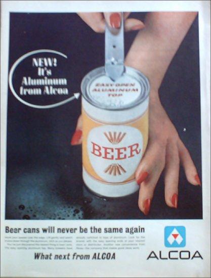 1962 Alcoa Aluminum Top Beer Can ad