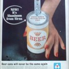 1962 Alcoa Aluminum Top Beer Can ad