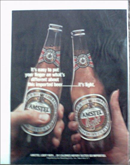 Amstel Light Beer ad