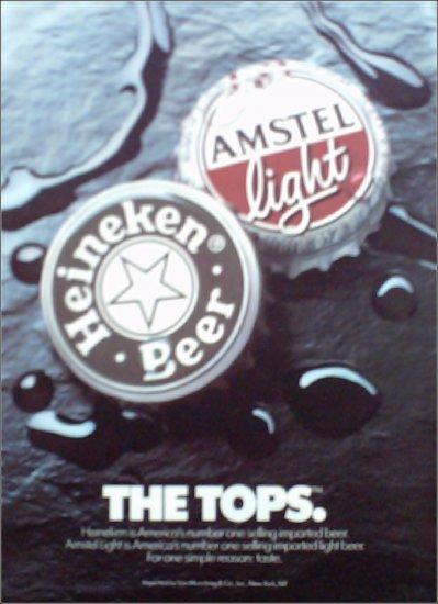 1990 Amstel Light & Heineken Beer ad