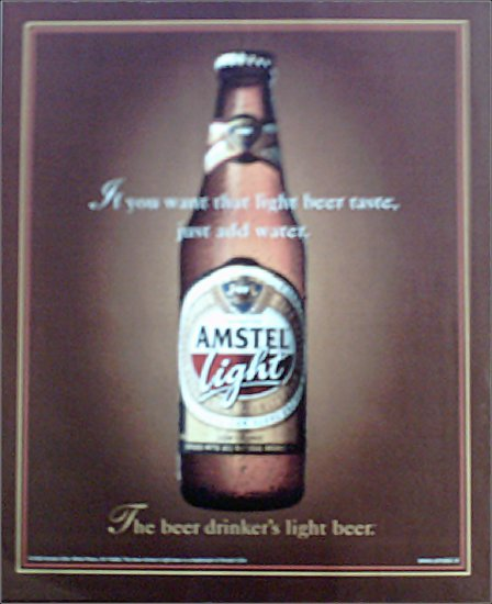 1999 Amstel Light Beer ad