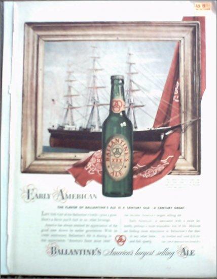 1940 Ballantine Ale Ship ad