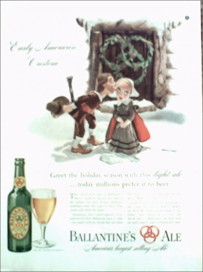 1940 Ballantine Ale ad