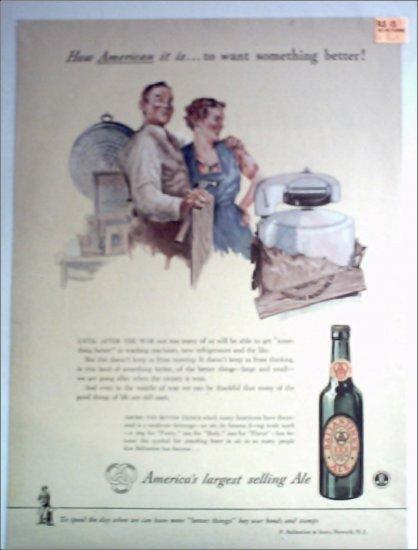 Ballantine Ale Couple ad