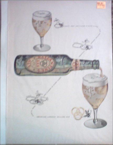 Ballantine Ale Bottle Pouring ad