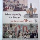 1954 Ballantine Ale ad #1