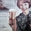 1958 Black Label Beer ad