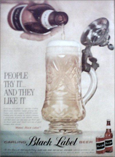 1960 Black Label Beer ad