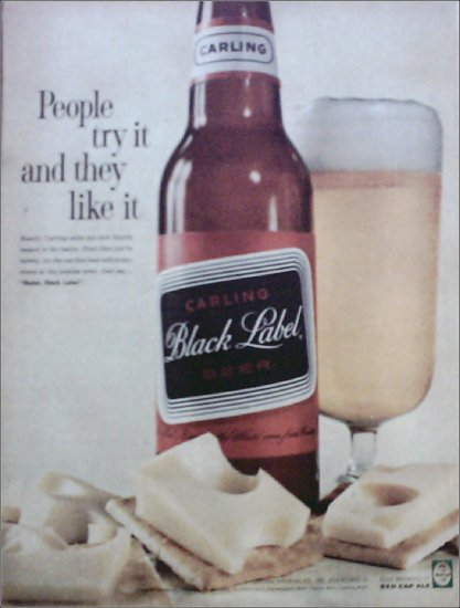 1961 Black Label Beer ad #1