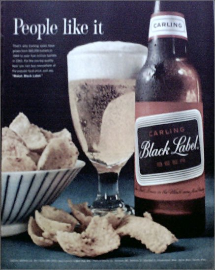 1962 Black Label Beer ad #1