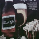 1962 Black Label Beer ad #3