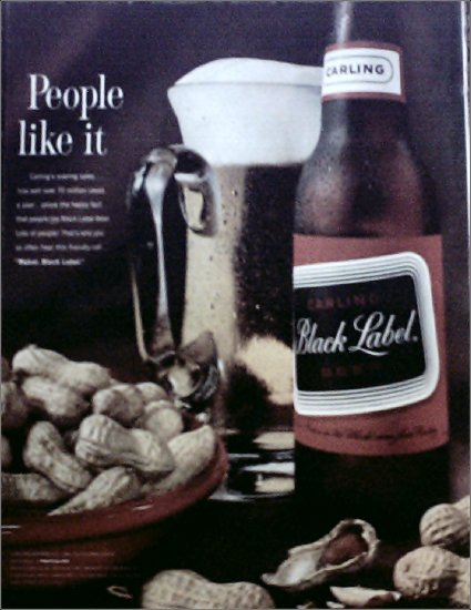1963 Black Label Beer ad #1