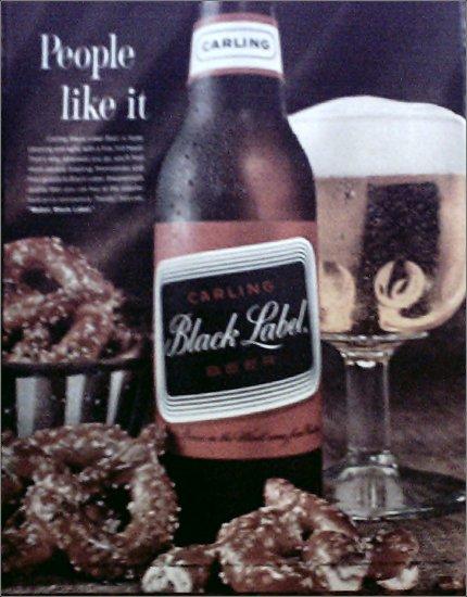 1963 Black Label Beer ad #2