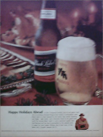 Black Label Beer Happy Holidays ad