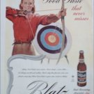 1945 Blatz Beer Archery ad