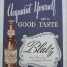 1946 Blatz Beer ad
