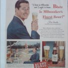 1948 Blatz Beer ad featuring Don Ameche