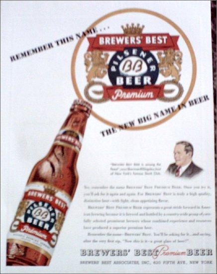 1947 Brewers Best Beer ad