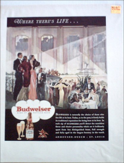 1933 Budweiser Beer ad #3