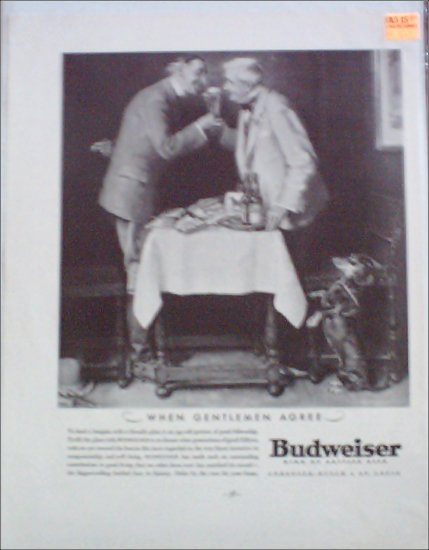 1934 Budweiser Beer ad