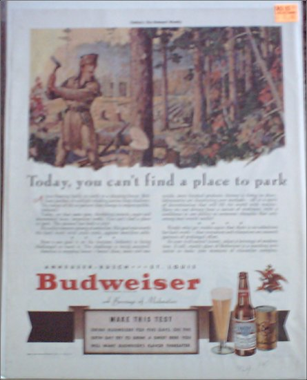 1941 Budweiser Beer ad