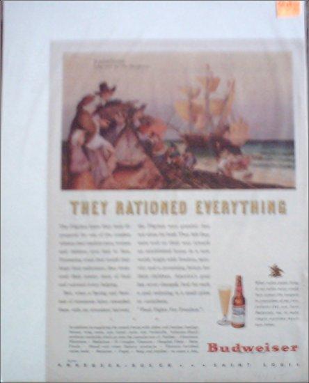 1944 Budweiser Beer Mayflower ad