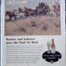 Budweiser Beer Wagon Train ad