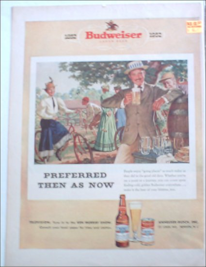 1952 Budweiser Beer 100th Anniversary ad