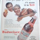 1955 Budweiser Beer ad