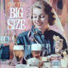 1961 Budweiser Beer Big Size ad