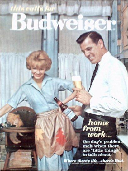 1962 Budweiser Beer ad #2