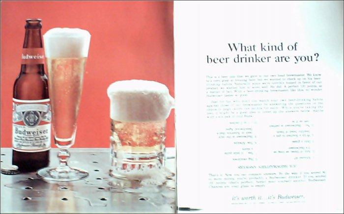 1965 Budweiser Beer ad #3