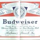 1966 Budweiser Beer Label ad