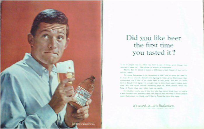 1966 Budweiser Beer ad #4